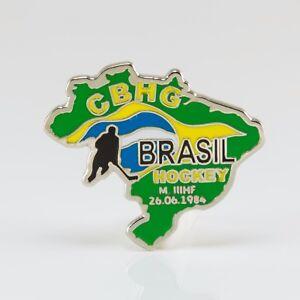 Ice Hockey Federation of Brazilia pin, badge, lapel, hockey