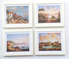 Lotto 4 Stampe con Cornice - 27x32 cm - Paesaggi - Quadro Mediterraneo Mare