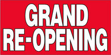 Grand Re-Opening Vinyl Banner Sign 2x4 ft rb