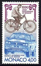 Monaco 1713, MNH. Automobile Club, Centenary. Car, Bicycle, 1990
