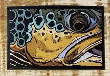 "BROWN TROUT Sticker Decal fly fishing 4 3/4"" x 3"" Morgan Brown Design"