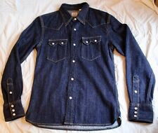 The Flat Head Denim Western Shirt Size 38 (Small)
