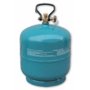 Leere befüllbare Gasflasche 3kg/7,2L Camping Grill Boot Propan Butan Gas Bradas