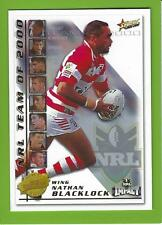 2001SELECT NRL IMPACT SERIES-TEAM OF THE YEAR-TY2-NATHAN BLACKLOCK-DRAGONS