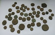 LOT OF 50 ANCIENT ROMAN IMPERIAL COINS UNCLEANED III-IV CENTURY