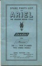 Ariel Motor Cycles Illustrated Parts List Leader and Arrow 250cc Twin 1961