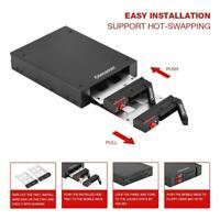 """Dual Bay 2,5 """"SATA-Festplatten- und SSD-Einschub Internes mobiles Rack für 3,5"""
