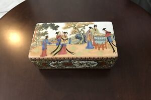 Antique Chinese Famille Rose Porcelain Brush/Pen Box