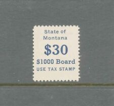 A58 - STATE REVENUE - MONTANA PUNCH BOARD STAMP SRS #PB10, Mint, NH. CV $125.00