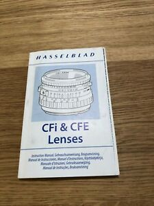 Hasselblad CFi & CFE Instruction Manual in very good condition
