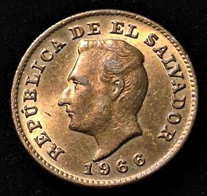 1966 El Salvador 1 Centavo Nice Coin