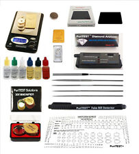 Gold Acid Testing Kit + Digital Diamond Tester + Digital Test Scale +Loop+Extras
