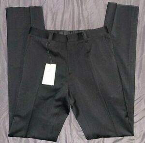 BURBERRY NWT Millbank Travel Trouser Black Wool Unhemmed Dress Pants 46 (US 36)