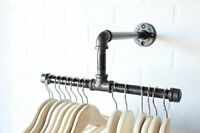 "12"" Urban Industrial Pipe Wall Rack - Clothing Rack, Closet Organizer, Retail"