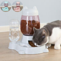 Pet Dog Cat Automatic Water Drinking Food Feeding Bowl Dispenser Feeder Supplies