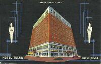 Tulsa Oklahoma Hotel Tulsa Linen Postcard