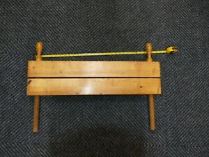 ANTIQUE ? WOODEN BOOKBINDING CLAMP SCREW BOOK BINDING FINISHING PRESS HAND PARAL