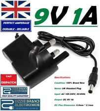 UK 9V AC-DC Power Adapter To Fit CYD-0900500F Kettler 800 Calypso Crosstrainer