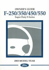 owner operator manuals for ford f 350 for sale ebay rh ebay com 2003 ford f250 owners manual 2003 ford f250 owners manual