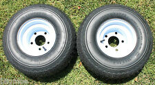NEW Set Of 2 Tires and 5 LUG Wheels For Golf Cart Carts Taylor Dunn EzGo Cushman