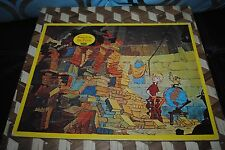 """Disney The Sword in the Stone 1963 Puzzle Wart Archimedes JAYMAR 14"""" Vintage"""