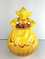 Vintage Mid Century RED WING Golden Yellow KATRINA Dutch Girl Cookie Jar USA Vtg