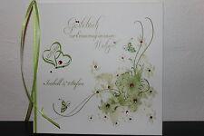 Hardcover Gästebuch zur Hochzeit , apfelgrün pink