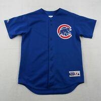 Vintage Majestic Chicago Cubs Jeresy Adult Large Men Blue Button Up MLB Baseball