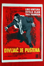 TIGER ATTACKS LINO VENTURA FRENCH 1959 RARE EXYU MOVIE POSTER
