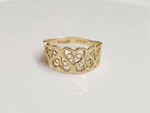14k yellow gold Filigree ring