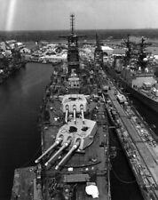 USS Iowa BB-61 battleship under repair in Pascagoula Mississippi Photo Print