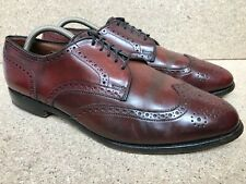 Allen Edmonds 5177 Concord Shell Cordovan Mens Brown Wingtip Shoes Sz 10.5 E