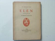 ELEN / LE THÉÂTRE D'ART / VILLIERS DE L'ISLE-ADAM  / 1918