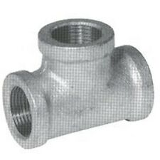 NEW LOT (5) 1 1/4 INCH GALVANIZED PIPE THREADED TEE FITTINGS PLUMBING 6101505