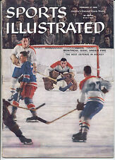 Sports Illustrated 58 Jacques Plante MONTREAL Tom Johnson Don Marshall NO LABEL