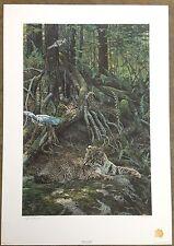 "George McLean ""Bobcat - Blue Jays"" S/N Ltd Master Ed Print #361/450"