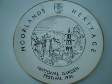 Goss Bone China : Commemorative Plate : Moorlands Heritage Garden Festival 1986