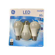 GE 3-Pack LED A-Shape Dimmable Light Bulb in Daylight