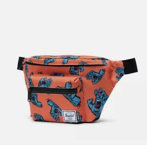 NWT Herschel Supply Co Seventeen Fanny Hip Pack Santa Cruz Screaming Hand Orange
