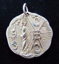 Antique 1913 CBC CANOE RACE Gold Filled Award Medallion Wm HAWKINS PHILA Pa