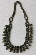 Antique Vintage India Rajasthan Silver Plated Ethnic Tribal Necklace Mesh Chain