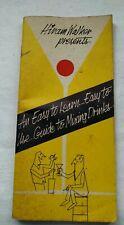 Vintage 1963 Hiram Walker Mixed Drink Liquor Cocktail Bar Guide Booklet