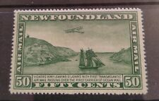 Newfoundland 1931 Vickers aeroplane 50c Mint!!