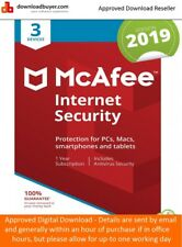 McAfee Internet Security 2019 - 3 Device 1 Year - (Approved Digital Download)