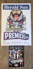 2016 Western Bulldogs Premiership Poster And Record Knight WEG