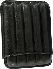 MARTIN WESS BLACK COWHIDE/ GOATSKIN LEATHER 5 CIGARILLO CASE * NEW *