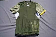 Nike Dry Fit 10/2 Cycling Jersey Army Olive Women's Size M