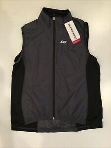 Louis Garneau Women's XXL Gray & Black Mesh Back Cycling Vest with back pocket