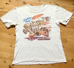 Rare vintage The Birthday Party Nick Cave Junkyard Ed Roth Rat Fink 80s tshirt