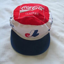 MONTREAL EXPOS PAINT BALL CAP HAT sponsored COKE COCA-COLA POLICE BASEBALL MLB